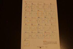 くもんはじめてのアルファベット最終ページ