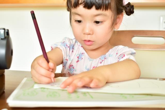 くもんのドリル・めいろ集で鉛筆を使ってみよう!筆圧を強くしよう