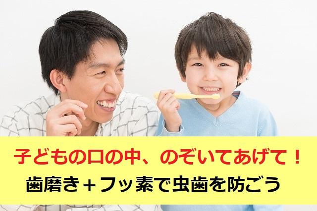 子どもの歯磨き「+フッ素で虫歯を防ごう!」